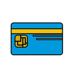 Credit card to save money in the bank vector