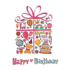 Cute Birthday gift vector image