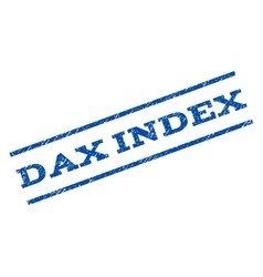 Dax Index Watermark Stamp vector
