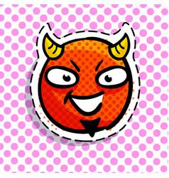 devil smile on dots background vector image