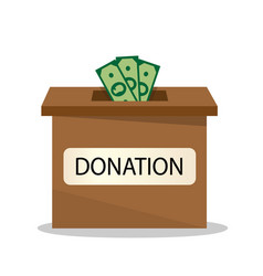 donation for good purposes vector image