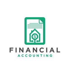 Financial accounting logo design icon simple vector