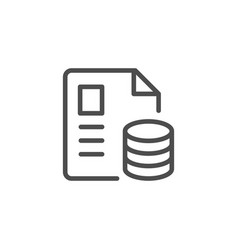 Financial document line outline icon vector