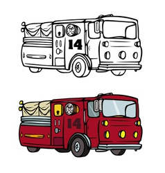 fire truck coloring book vector image