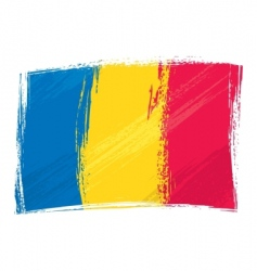 Grunge Romania flag vector