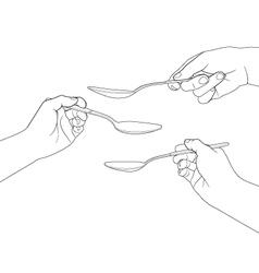 Hand set 7 vector