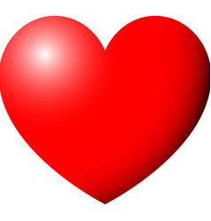 heart red color with ligth vector image