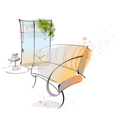 Home Lounge Sketch vector image