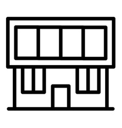 House with solar panel icon outline style vector