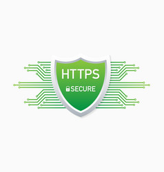 Https protocol safe and secure web sites on the vector
