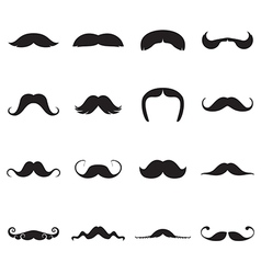 Icons of moustaches vector