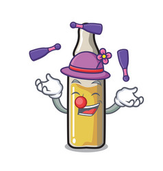 Juggling ampoule mascot cartoon style vector