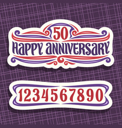 logo for anniversary vector image