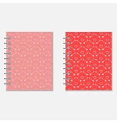 Love diary design vector