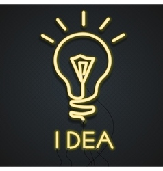 Neon Lamp Idea vector image