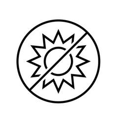 no sun icon line style symbol sun rays vector image