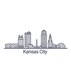 outline kansas city banner vector image