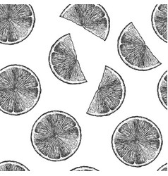 Pattern with citrus vector