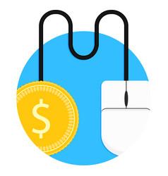 pay per click icon vector image