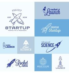 Rocket Logo Set vector image