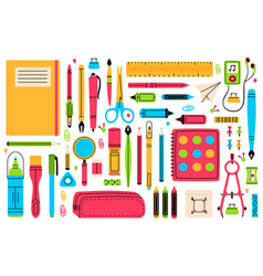 school chancellery pupils education hand drawn vector image