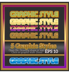 Set Of Colorful Decorative Graphic Styles vector