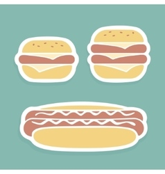 Set of symbols Fast Food vector image