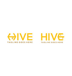 Simple hive for logo design editable vector