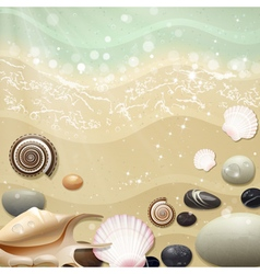 Summer Background with Beach Sand and Sea vector