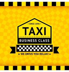Taxi symbol with checkered background - 06 vector