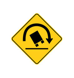 usa traffic road sign right curve aheadtruck vector image