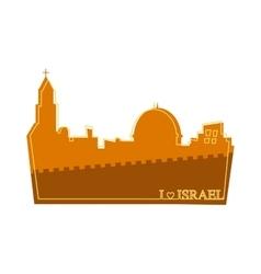 View on landmarks jerusalem old city vector