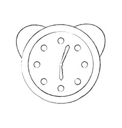 Watch alarm clock icon vector