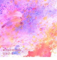 watercolor pink splashes background vector image