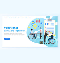 website vocational training and employment vector image