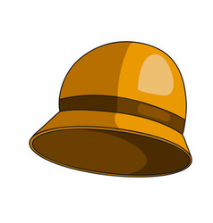 woman small hat vector image