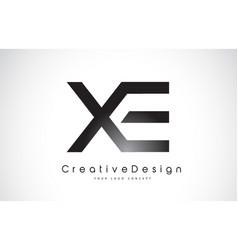 Xe x e letter logo design creative icon modern vector