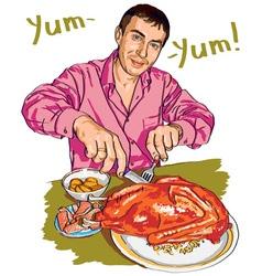 Yum yum vector
