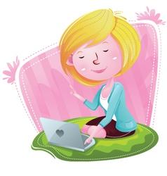 Blogger Girl Have idea vector image