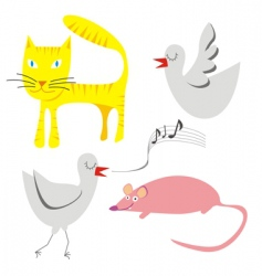illustration of little funny a vector image