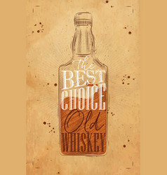 poster whiskey best choice craft vector image vector image