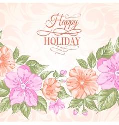 Sakura holiday invitation card vector image