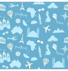 Seamless pattern background travel vector image vector image