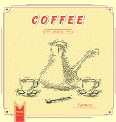 Set of coffee elements vector image
