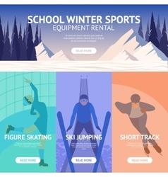 Winter sport banner vector