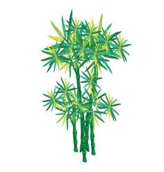 An isometric of beautiful green bammboo trees vector