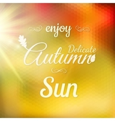 Autumn Modern Typographical Background EPS 10 vector image