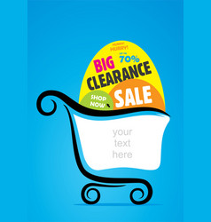 big clearance sale banner vector image