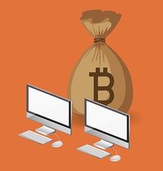 bitcoin trading vector image vector image