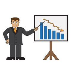 Cartoon businessman doing a presentation vector image